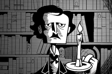 An image of Edgar Allen Poe from Amplify ELA