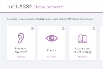 An image of the homepage of mCLASS Home Connect.